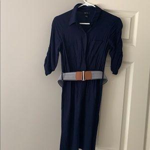 BCX button down dress with belt
